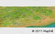 Satellite Panoramic Map of Soc Trang