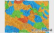 Political 3D Map of Son La