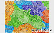 Political Shades 3D Map of Son La