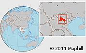 Gray Location Map of Son La