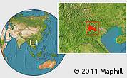 Satellite Location Map of Son La