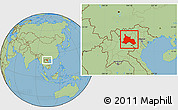 Savanna Style Location Map of Son La