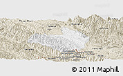 Classic Style Panoramic Map of Mai Son