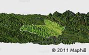 Satellite Panoramic Map of Mai Son, darken
