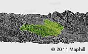 Satellite Panoramic Map of Mai Son, desaturated