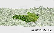 Satellite Panoramic Map of Mai Son, lighten