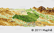 Satellite Panoramic Map of Mai Son, physical outside