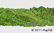 Satellite Panoramic Map of Mai Son