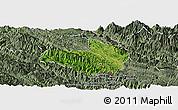 Satellite Panoramic Map of Mai Son, semi-desaturated