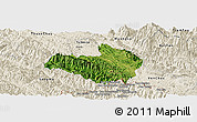 Satellite Panoramic Map of Mai Son, shaded relief outside