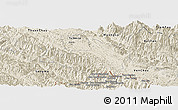 Shaded Relief Panoramic Map of Mai Son