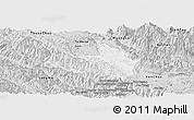 Silver Style Panoramic Map of Mai Son