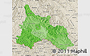 Political Shades Map of Son La, shaded relief outside