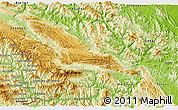 Physical 3D Map of Moc Chau
