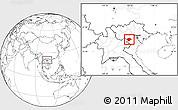 Blank Location Map of Moc Chau