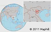 Gray Location Map of Moc Chau