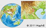 Physical Location Map of Moc Chau