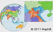 Political Location Map of Moc Chau