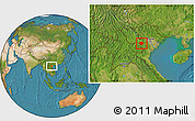 Satellite Location Map of Moc Chau