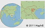 Savanna Style Location Map of Moc Chau