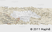 Classic Style Panoramic Map of Moc Chau
