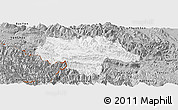 Gray Panoramic Map of Moc Chau
