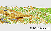 Physical Panoramic Map of Moc Chau