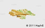 Physical Panoramic Map of Moc Chau, single color outside