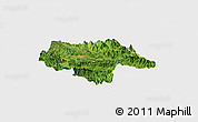 Satellite Panoramic Map of Moc Chau, single color outside