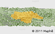 Savanna Style Panoramic Map of Moc Chau