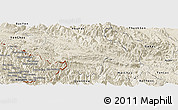 Shaded Relief Panoramic Map of Moc Chau
