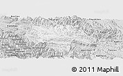 Silver Style Panoramic Map of Moc Chau