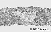 Gray Panoramic Map of Muong La