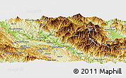 Physical Panoramic Map of Muong La