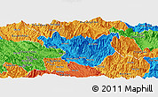 Political Panoramic Map of Muong La