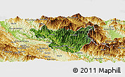 Satellite Panoramic Map of Muong La, physical outside