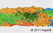 Satellite Panoramic Map of Muong La, political outside