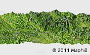 Satellite Panoramic Map of Muong La