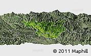 Satellite Panoramic Map of Muong La, semi-desaturated