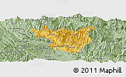 Savanna Style Panoramic Map of Muong La