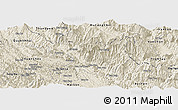 Shaded Relief Panoramic Map of Muong La