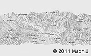 Silver Style Panoramic Map of Muong La