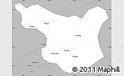 Gray Simple Map of Muong La