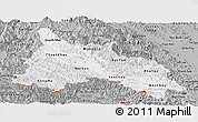 Gray Panoramic Map of Son La