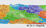 Political Shades Panoramic Map of Son La
