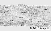 Silver Style Panoramic Map of Son La