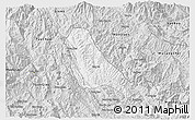 Silver Style 3D Map of Quynh Nhai