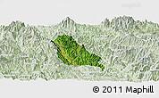 Satellite Panoramic Map of Quynh Nhai, lighten