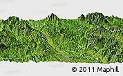Satellite Panoramic Map of Quynh Nhai