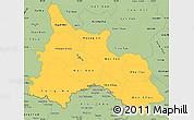 Savanna Style Simple Map of Son La